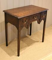 Early 19th Century Carved Oak Lowboy (9 of 11)