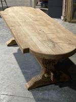 Large Rustic French Bleached Oak Farmhouse Dining Table (23 of 40)