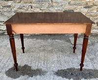 Antique Victorian Mahogany Two Drawer Side Table (10 of 20)