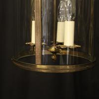 French Gilded Brass Triple Light Antique Lantern (7 of 10)