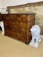 19th Century French Burr Walnut Commode with Marble Top (7 of 9)