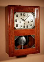 Art Deco Westminster Girod Carillon Oak, Rosewood & Fruitwood Wall Clock French c.1940 (4 of 9)