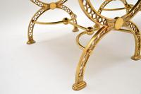 Pair of 1970's Vintage Brass Stools (6 of 9)