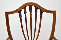 Pair of Antique Mahogany Shield Back Carver Armchairs (8 of 9)