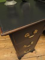Antique Black Painted Writing Desk, Gothic Shabby Chic (18 of 18)