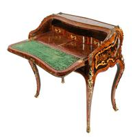 19thc Louis XV Style Marquetry Bureau en Pente (12 of 14)