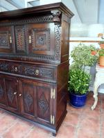 Country Oak Marquetry Inlaid Court Cupboard 1770 (9 of 10)