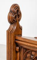 Pair of Victorian Carved Oak Pews (4 of 11)
