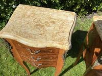 Pair of French Marquetry Bedside Tables (2 of 8)