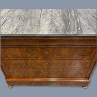 Exceptional French Marble Top Mahogany Inlaid Commode (6 of 12)