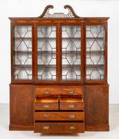 Georgian Style Mahogany Breakfront Bookcase c.1920 (10 of 12)