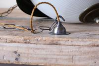 Industrial Style Hanging Lights, Brass With Holophane Glass Shades (9 of 16)