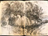 Original Sketchbook of Pencil Drawings, Pen Drawings and Watercolours by Helmut Petzsch - 1987-1989 (16 of 19)