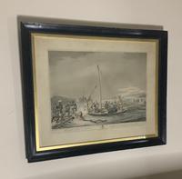 Georgian framed aquatint after Samuel Howitt (7 of 9)