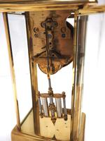 Fine Antique French Table Regulator with Visible Pendulum 8 Day 4 Glass Mantel Clock (8 of 10)