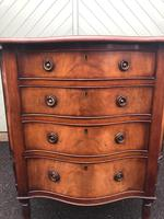 Antique Mahogany Serpentine Chest of Drawers (5 of 11)