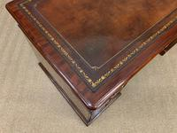 Early Victorian Mahogany Pedestal Desk by M Wilson of London (11 of 16)
