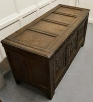 Large 18th Century Carved Oak Coffer (7 of 8)