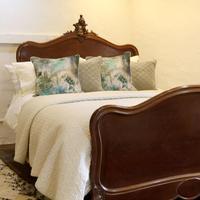 Understated Louis XV Dark Walnut Antique Bed (2 of 6)
