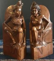 Pair of Large Hand Carved  Indonesian Bookends