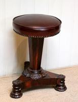 William IV Rosewood Piano Stool (6 of 9)