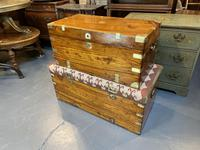 19th Century Campaign Camphor Chest Seat (13 of 13)