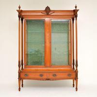 Antique Victorian Satinwood Display Cabinet (6 of 13)