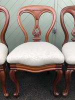 Antique Set of 4 Mahogany Balloon Back Dining Chairs (6 of 11)