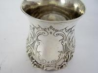 Early Victorian Inverted Bell Shaped Silver Christening Mug (6 of 6)