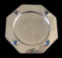 Antique Arts & Crafts Silver Plate on Copper Ruskin Tray c.1910 (9 of 9)