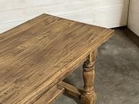 Nice Large Bleached Oak Farmhouse Dining Table With Extensions (13 of 35)