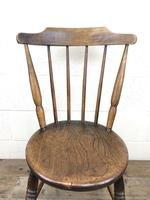 Set of Four Victorian Elm Penny Chairs (M-1317) (8 of 11)