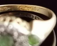 Antique Edwardian Peridot & Diamond Cluster Ring, 18ct Gold (11 of 13)
