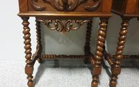Pair of French Walnut Bedside Lamp Tables (6 of 10)