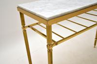 Vintage French Brass & Marble Console Table (7 of 8)