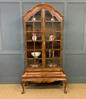 Burr Walnut Dome Topped Display Cabinet (10 of 21)
