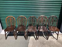Harlequin Set 10 Ash & Elm Kitchen Chairs (4 of 10)