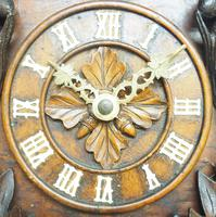 Antique Carved Early Cuckoo Clock Weight Driven Visible Pendulum (3 of 14)
