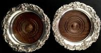 Pair of Victorian Silver Plate on Copper Bottle Coasters (6 of 6)