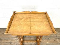 Antique Satin Birch Tray Top Side Table (8 of 10)