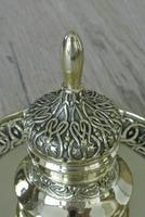 Fine 19th Century Brass Inkwell in the Bright Pavilion Style (4 of 7)
