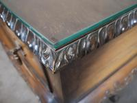 Mahogany Chippendale Style Table with Glass Gallery (9 of 10)