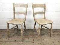 Pair of Antique Bar Back Farmhouse Kitchen Chairs (3 of 8)