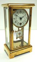 Fine Antique French Table Regulator with Visible Pendulum 8 Day 4 Glass Mantel Clock (9 of 10)