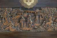Chinese relief carved camphorwood coffer with an ebonised finish (23 of 23)