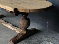 19th Century Rustic Oak Farmhouse Dining Table (13 of 23)