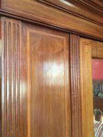 Antique Mahogany Wardrobe with Mirror Door (6 of 10)