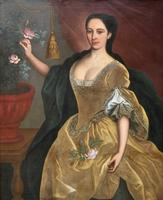 Huge Early 18th Century French Oil Portrait Painting of 'Lucy Webb, Heiress of Ashwick' (4 of 17)