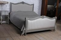 Beautiful Newly Upholstered King Size French Louis XVI Style Bed (2 of 11)
