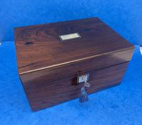 Victorian Rosewood Jewellery Box with Side Drawer (9 of 12)